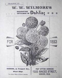 W. W. Wilmore's first Dahlia catalog.